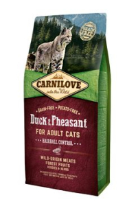 Carnilove Cat Duck & Pheasant Adult Hairball Control 6 kg