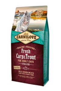 Carnilove Cat Fresh Carp & Trout Sterilised Adult 6 kg