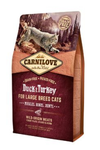 Carnilove Cat Large Breed Duck & Turkey Muscles Bones Joints 2 kg