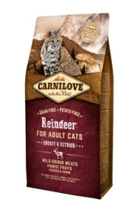 Carnilove Cat Reindeer for Adult Energy & Outdoor 6 kg