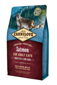 Carnilove Cat Salmon for Adult Sensitiv & Long Hair 2 kg