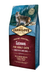 Carnilove Cat Salmon for Adult Sensitiv & Long Hair 6 kg