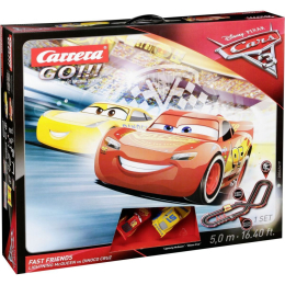 Autodráha Carrera GO!!! Cars 3 Fast Friends
