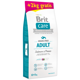 BRIT Care Dog Grain-free Adult Salmon & Potato 12+2 kg ZDARMA (14kg)
