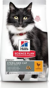 Hill's Science Plan Feline Mature Ad. 7+ Sterilised Chicken 3 kg