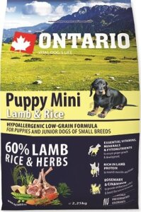 ONTARIO Puppy Mini Lamb & Rice 2,25 kg
