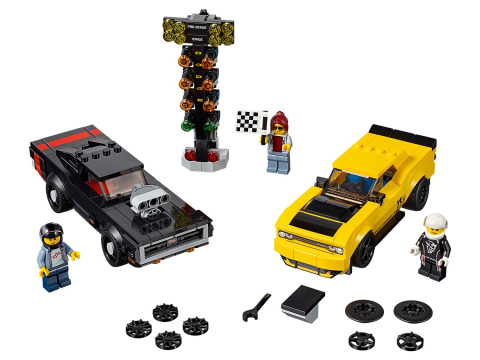Lego Speed Champions 75893 2018 Dodge Challenger SRT Demon a 1970 Dodge Charger
