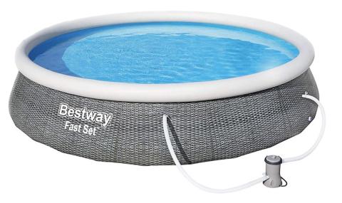 Bazén Bestway Fast Set Ratan 3,96 x 0,84 m s kartušovou filtrací 57376