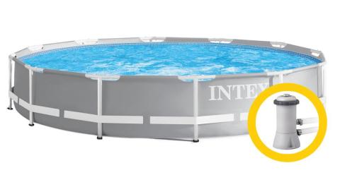 INTEX Bazén Prism Frame Pools 3.66m x 0.76m, s filtrací 26712NP