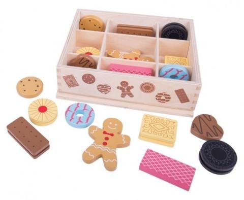 Bigjigs box s dřevěnými sušenkami