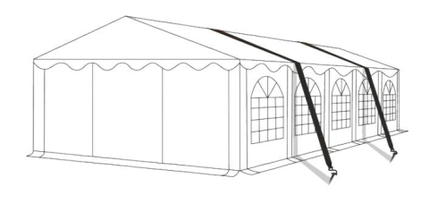 Bouřková sada pro párty stany | uchycení do betonu