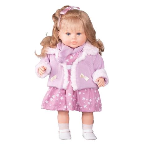 Berbesa mluvící panenka holčička Kristýna 52cm Růžová
