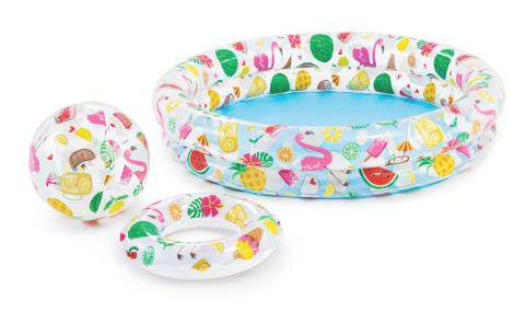 INTEX 59460 Fruity set (bazén + kruh + míč) 122x25 cm
