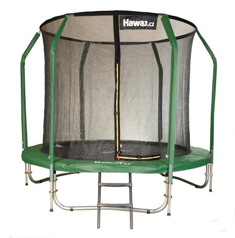 Trampolína Hawaj 244 cm + vnitřní ochranná sít + schůdky zdarma