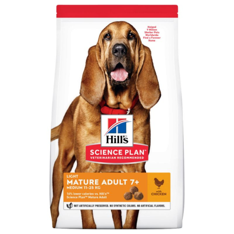 Hill's Canine Mature Adult 7+ Light Medium Chicken 14 kg