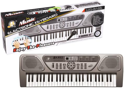 HM Studio Elektronické klávesy 54 kláves | tmavě šedé 21P5416HMS