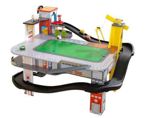 KidKraft Autodráha se stolem Freeway Frenzy Raceway Set