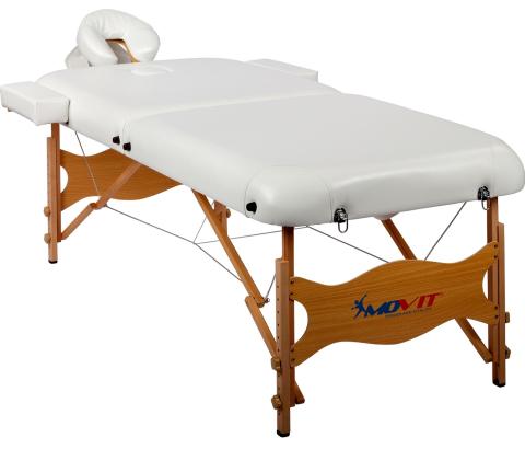 Movit Deluxe přenosné masážní lehátko černé 185 x 80 cm