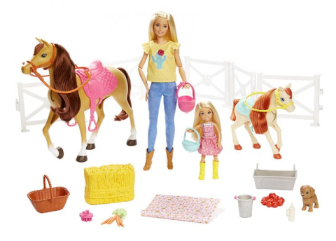 Mattel Barbie Herní set s koníky FXH15
