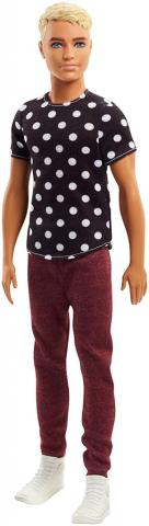 Mattel Barbie model ken   puntíkaté tričko 25DWK44