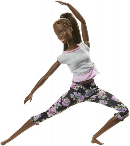 Mattel Barbie Panenka V pohybu černoška