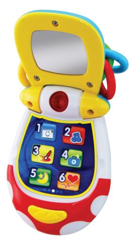Alltoys Můj první vyklápěcí telefon
