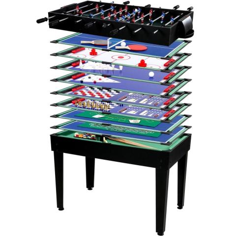 Goleto Multifunkční herní stůl Multigame 15 v 1 | černý