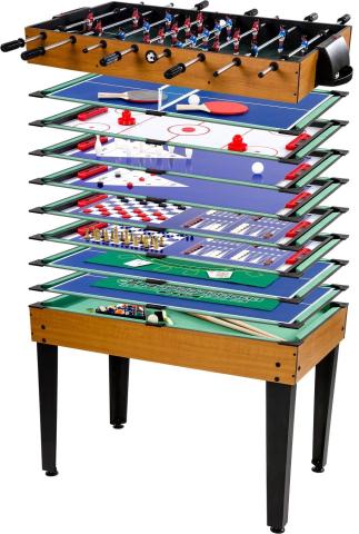 Goleto Multifunkční herní stůl Multigame 15 v 1 | světlý