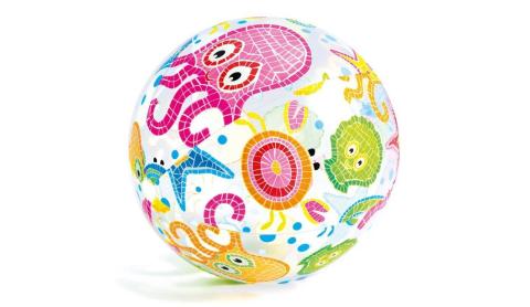 Intex Nafukovací plážový míč s potiskem 61cm