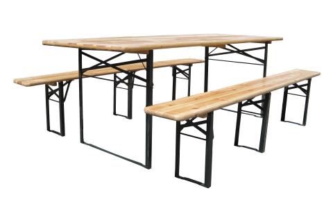 Pivní set 220 x 50 x 25 cm | 3 nohy na lavici