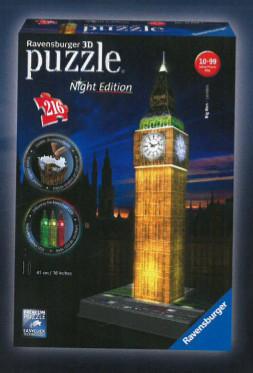 Ravensburger 3D puzzle Svítící Big Ben 216 ks