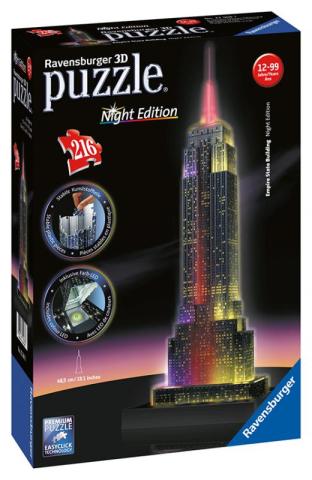 Ravensburger 3D puzzle svítící Empire State Building Noční edice 216 ks
