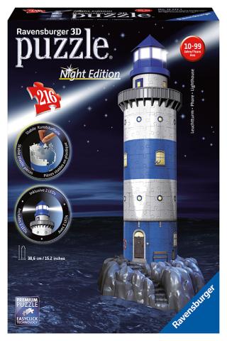 Ravensburger 3D puzzle svítící Maják v příboji Noční edice 216 ks