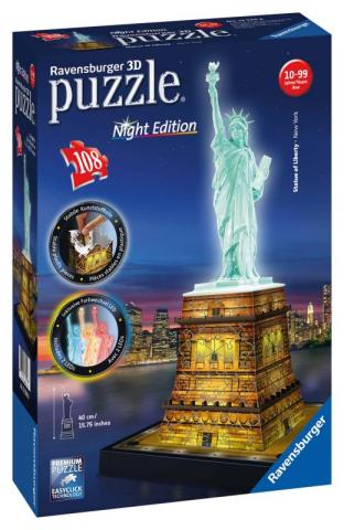 Ravensburger 3D puzzle svítící Socha svobody Noční edice 108 ks