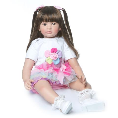 Hawaj Reborn realistická panenka na hraní Kamilka, 60 cm