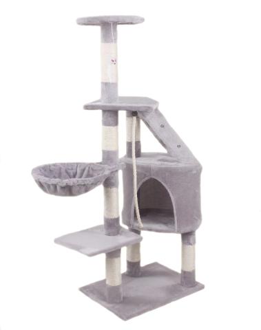 Hawaj Škrabadlo pro kočky 125 cm antracit 8012LG