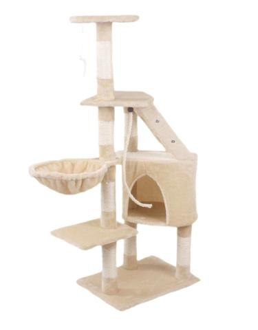 Hawaj Škrabadlo pro kočky 125 cm krémová 8012LB
