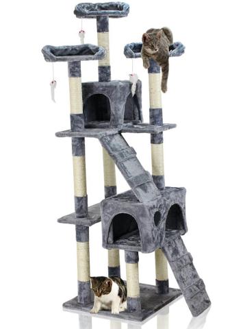 Hawaj Škrabadlo pro kočky 170 cm antracit 201513170