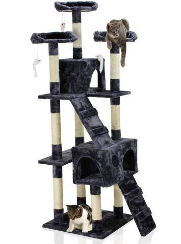 Hawaj Škrabadlo pro kočky 170 cm tmavě šedá 201504170