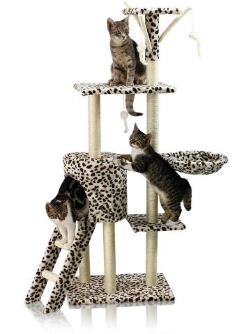 Hawaj Škrabadlo pro kočky 138 cm leopardí vzor 201511
