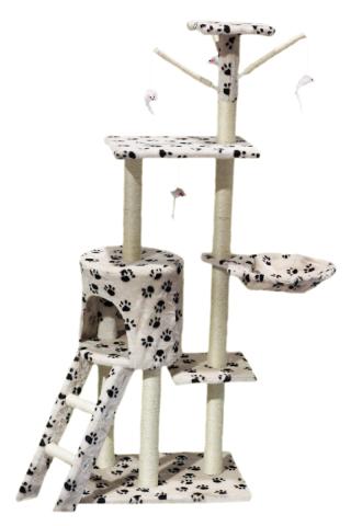 Hawaj Škrabadlo pro kočky 138 cm tlapkový vzor 201506