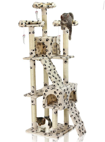 Hawaj Škrabadlo pro kočky 170 cm tlapkový vzor 201506170