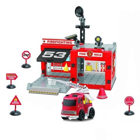 RAPPA Sada hasičská stanice šroubovací s autem