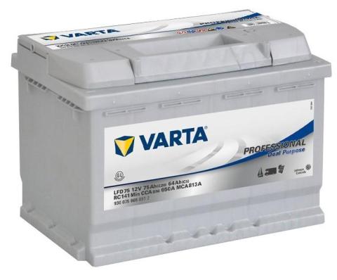 Trakční baterie Varta Professional DC 12V 75Ah 650A, 930 075 065