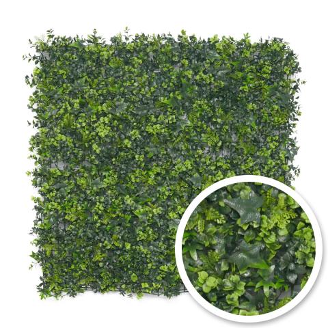 Umělý živý plot Mix rostlin - Stěna 100 x 100 cm