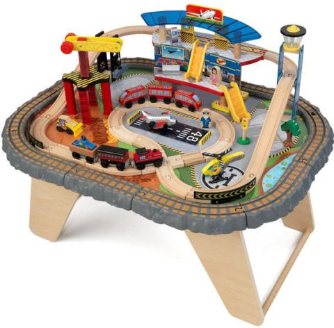 KidKraft Vláčkodráha TRANSPORTATION STATION TRAIN SET