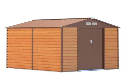 Zahradní domek G21 GAH 884 | 277 x 319 cm - hnědý