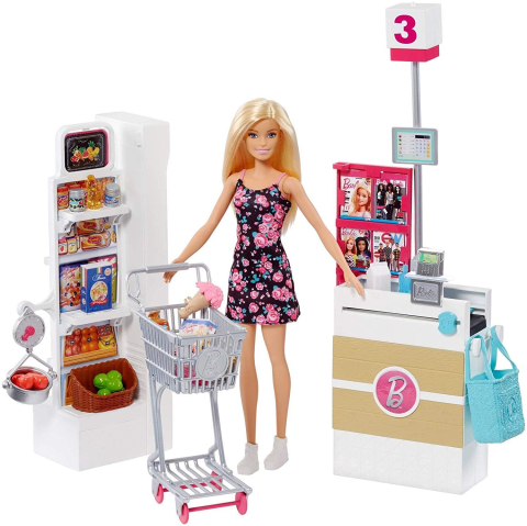 Herní set Barbie Supermarket