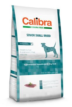 Calibra Dog Grain Free Senior Small Breed Duck 7 kg