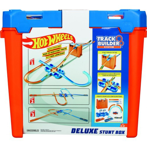 Hot Wheels Track Builder box plný triků